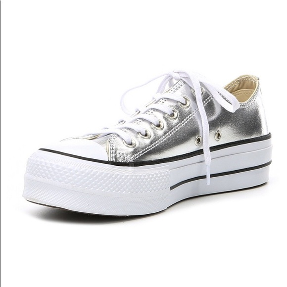 ebe50517f5a758 Converse Shoes - NWOT Converse Allstar Lifts - Metallic Silver